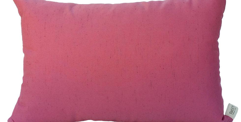almofada seda rosa retangular