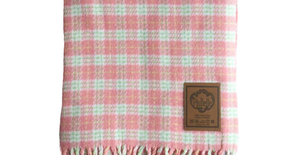 manta xadrez rosa