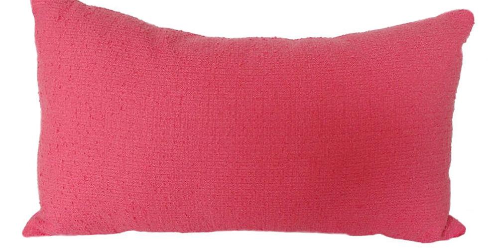 almofada buclê rosa retangular