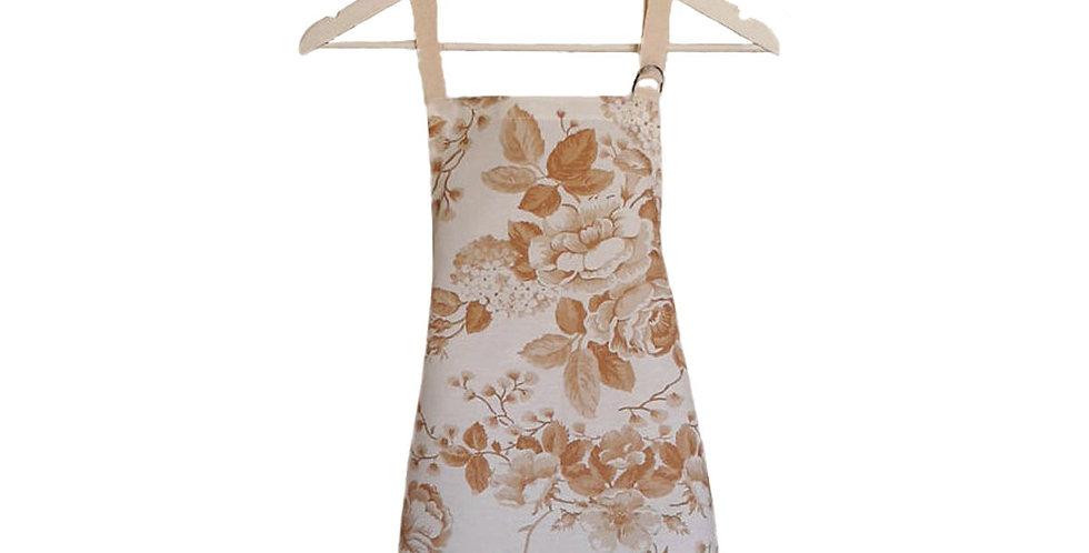 avental floral bege