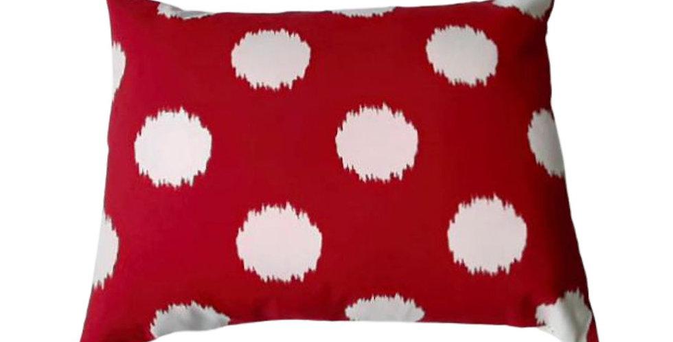 almofada bola vermelha retangular