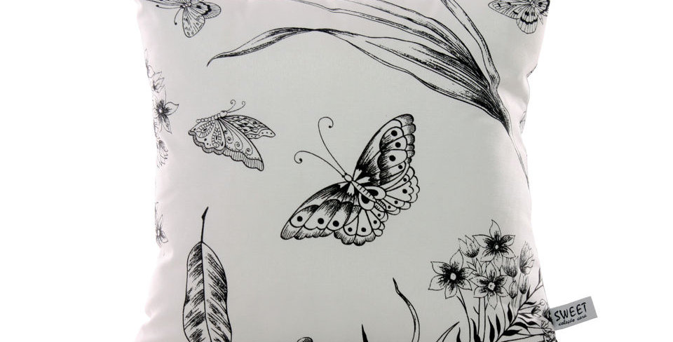 almofada londres borboleta