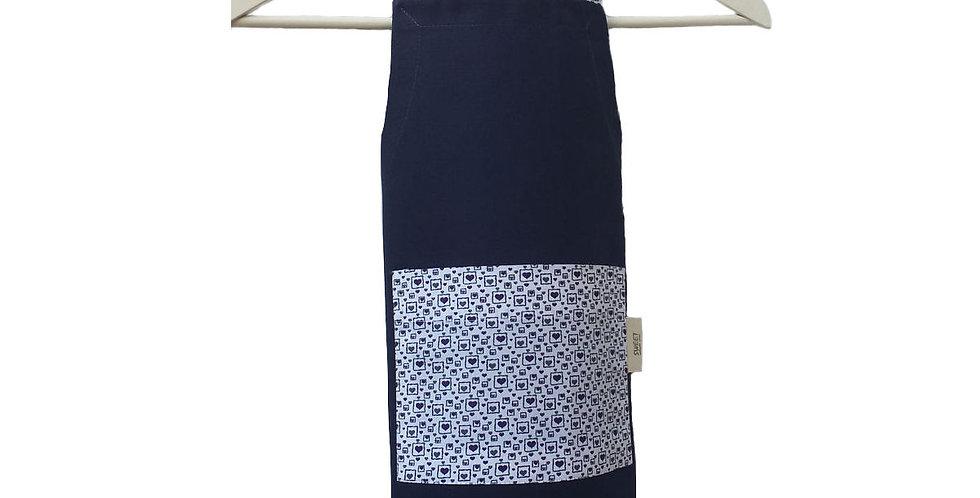 avental pop marinho flor