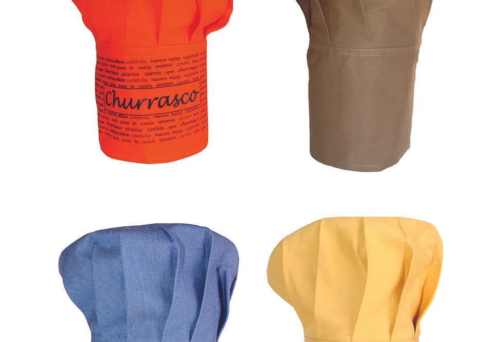 pack 13 chapéu de cozinheiro sortido