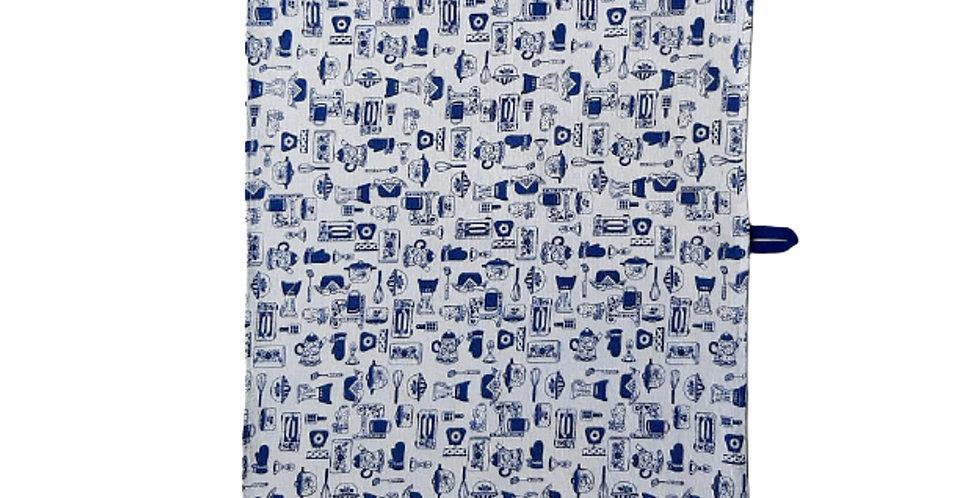 pano de louça kitchen azul
