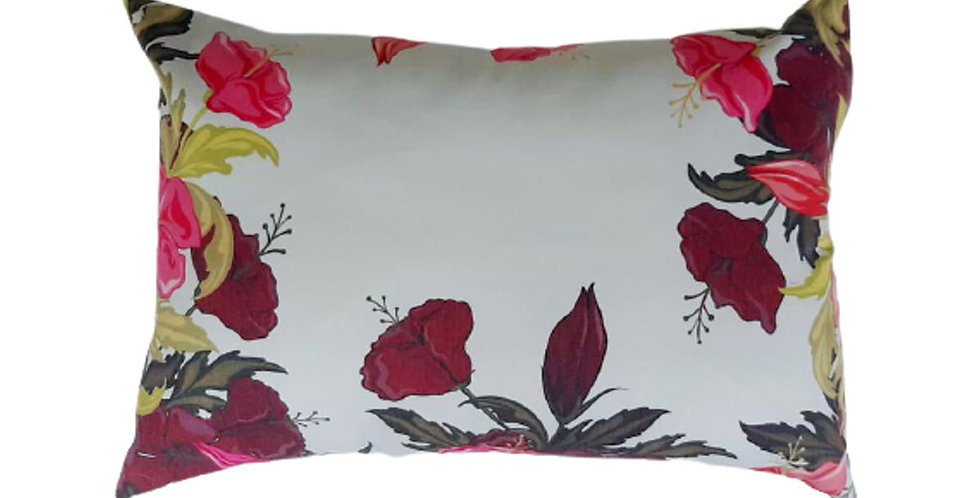 almofada floral retangular
