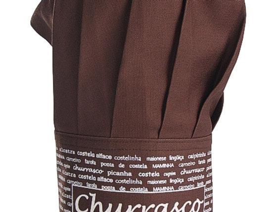 chapéu de cozinheiro churrasco marrom