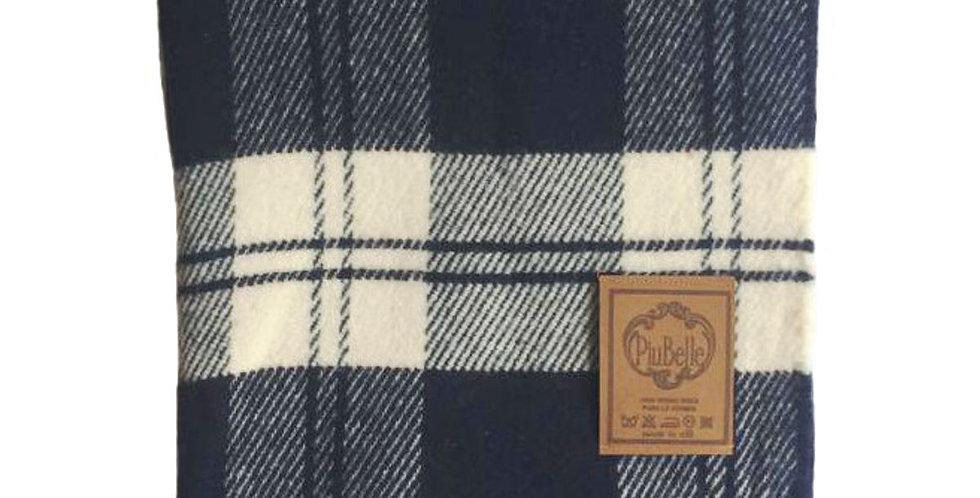 manta xadrez azul