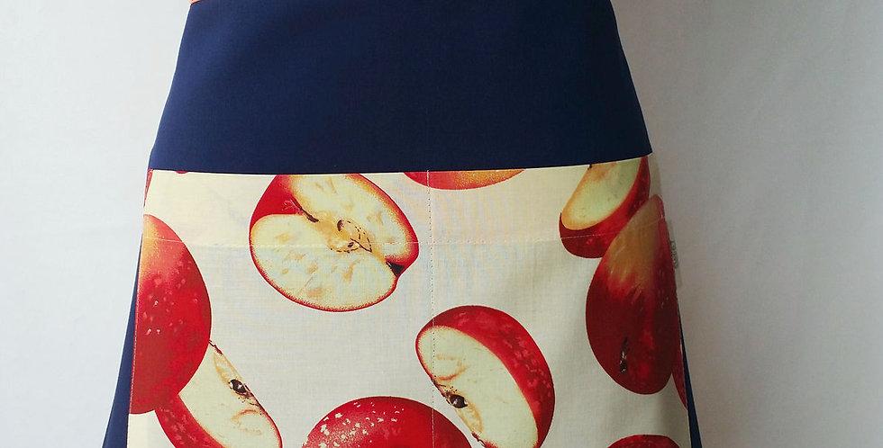 avental cintura fashion maçã marinho