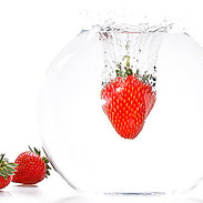 Strawberries falling