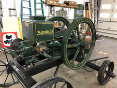 Antique hit and miss engine