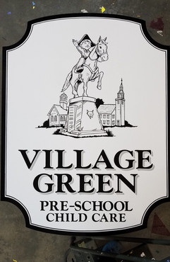 Village Green Hand Painted