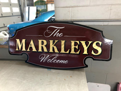 Hand Painted Sign - The Markleys