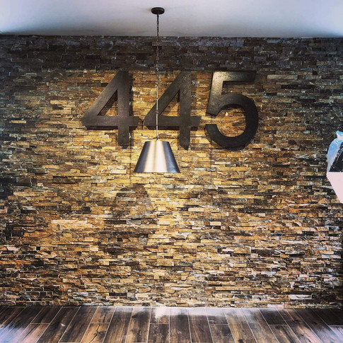 Grill 445 Custom Aged Metal Letters
