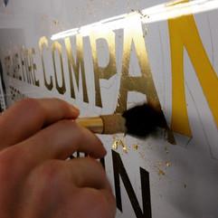 Hand Laid Gold Leaf