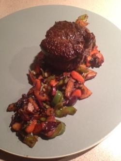 Beef Tenderloin w/ Seasonal Veggies