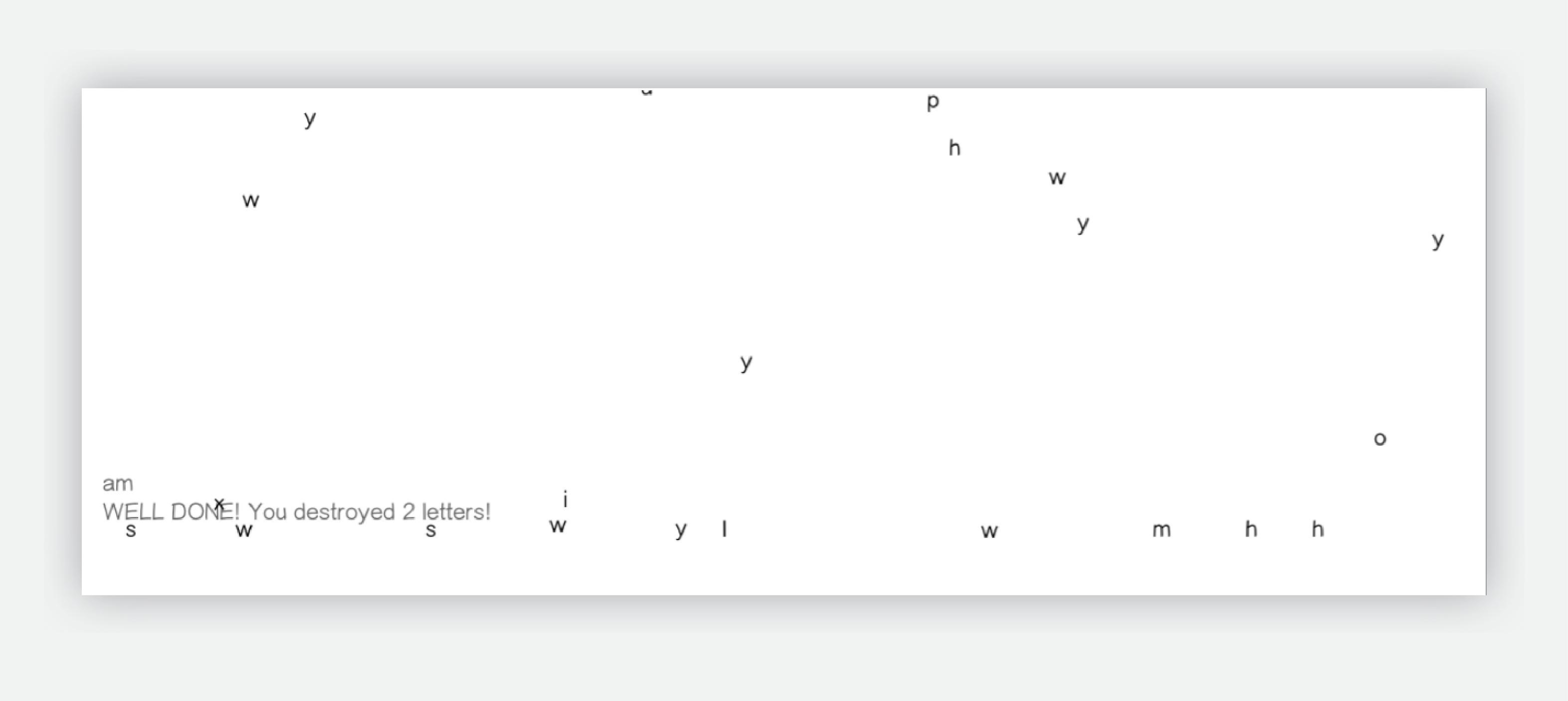 Letter Game 2012 (in progress)