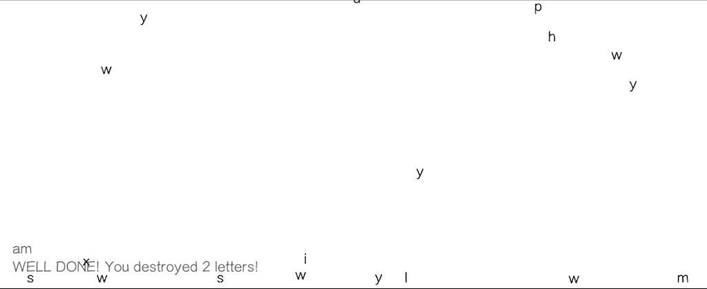 Letter Game (in progress)