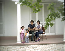 中庭/ギリシャ風ガーデン MγKONO∑ ミコノスで家族写真撮影