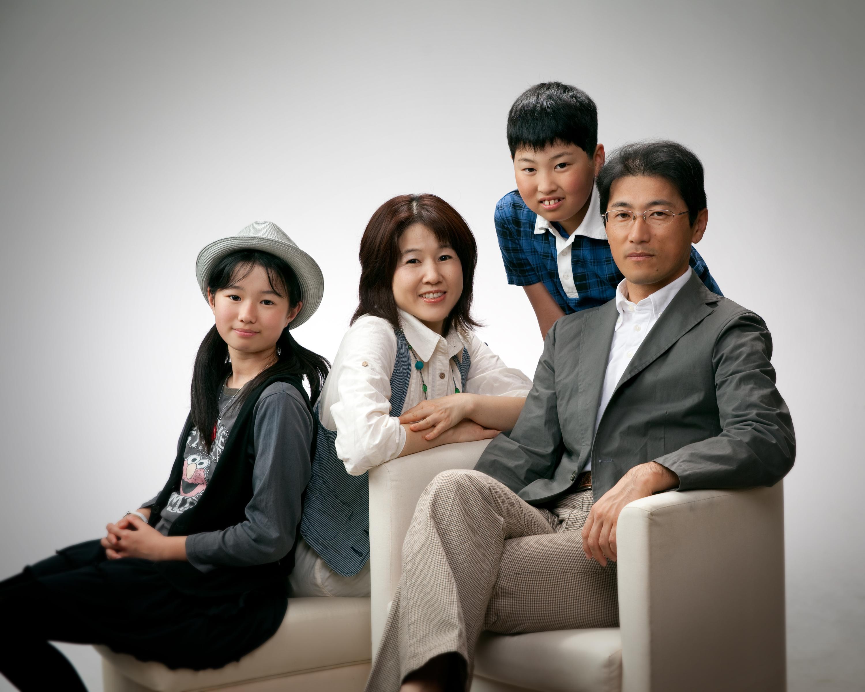 ファミリープラン 家族写真