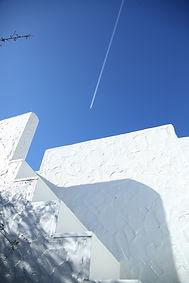 ギリシャ風の外階段