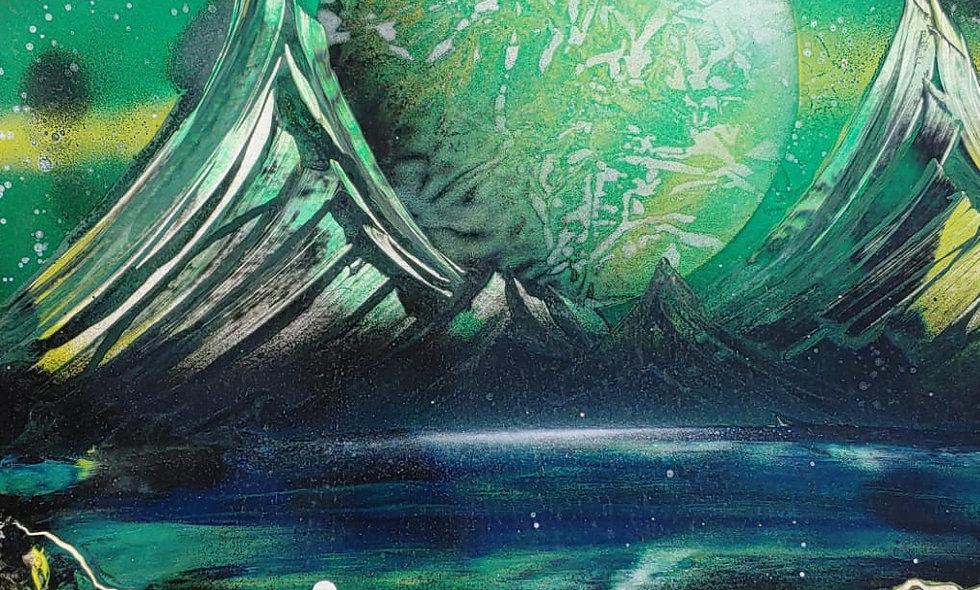 Waterfall Space Art