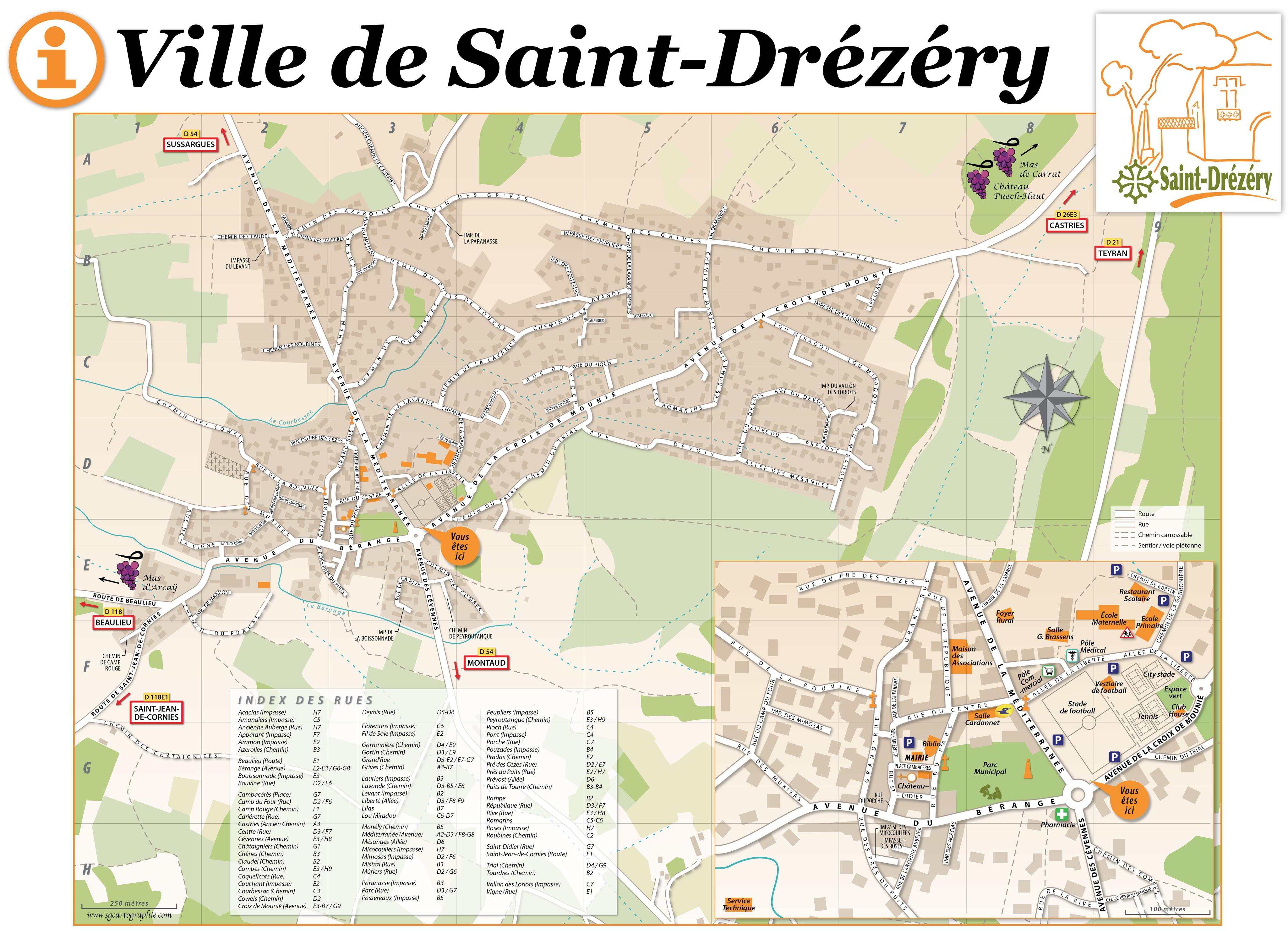 Commune de SAINT-DRÉZÉRY