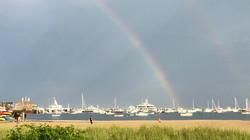Double Rainbow over the harbor