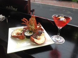 Lobster and a martini