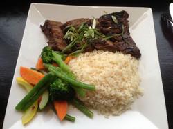Sizzling Korean steak