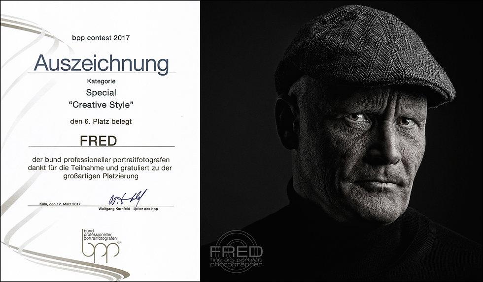 Auszeichnung FineArt Creative Style Platz 6