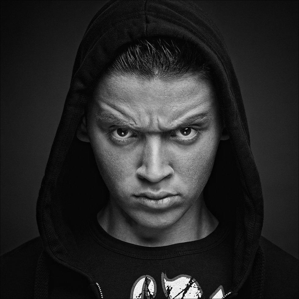 Individuelle Persönlichkeiten, schwarz-weiß Portrait