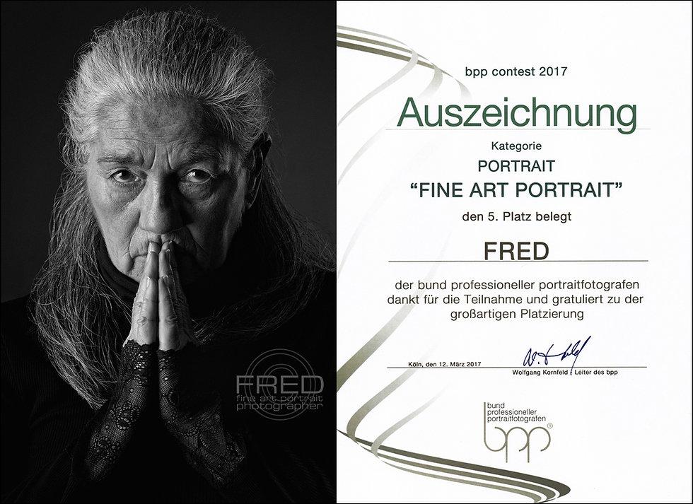 Auszeichnung FineArt Portrait Platz 5