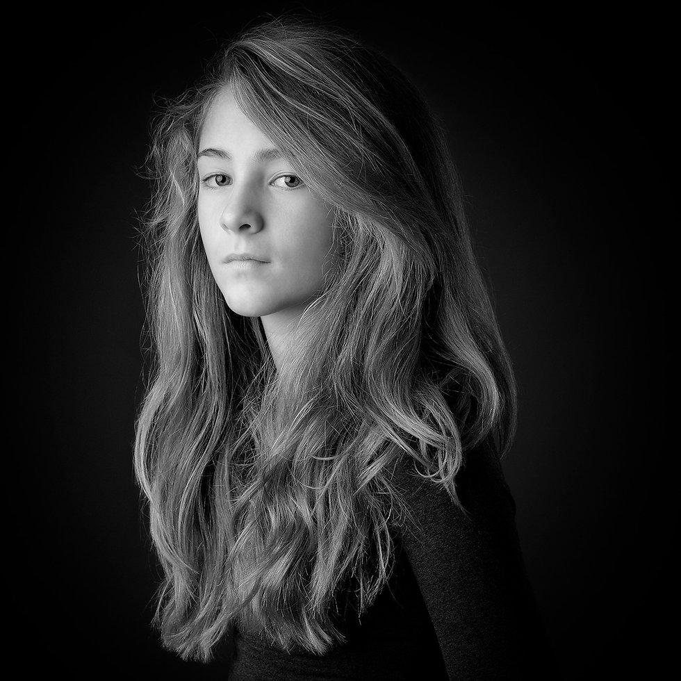 Schwarz-weiß Portraitfotografie