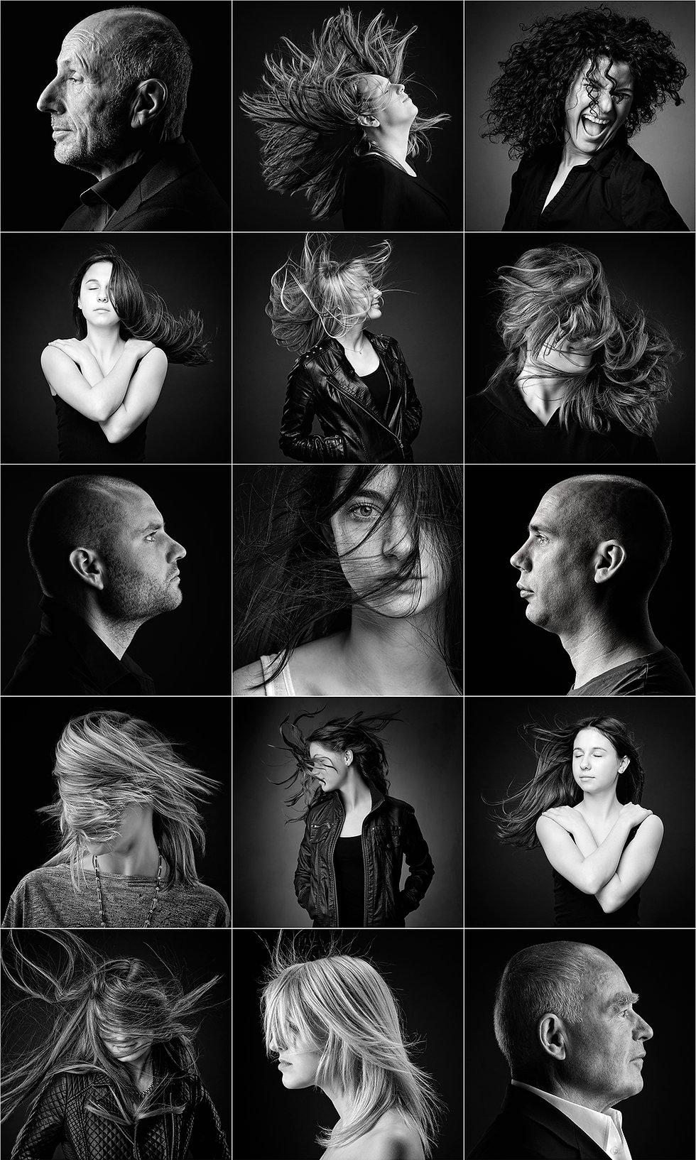 Headshots, black & white, International Photographic Qualifications, Bund professioneller Portraitfotografen