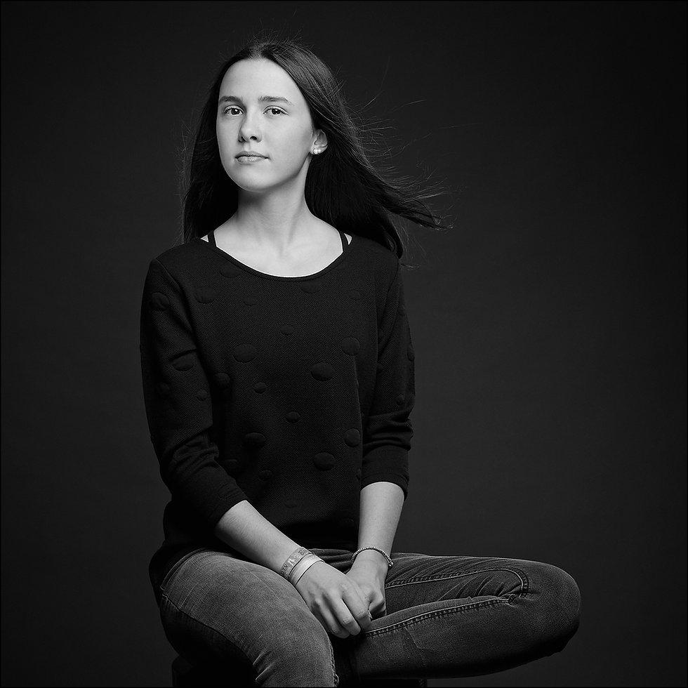 Mädchen Portrait Black & White