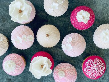 Raspberry Lemon Vintage Cupcakes