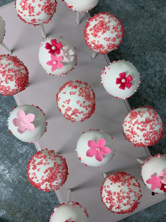 Cake Pops Pink Weiss