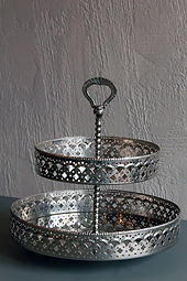 Miet-Etagère Silber