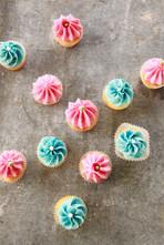 Lemon and Plum Mini Cupcakes