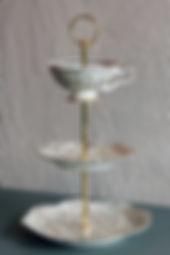 Miet-Etagère Gold-Ornamente