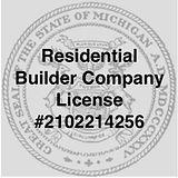 Michigan Builder License Number