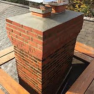 A chimney in good condition after masonry repair