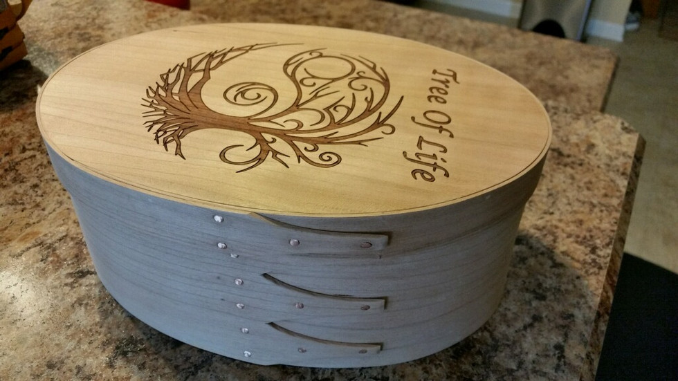 Shaker Box with laser etched top