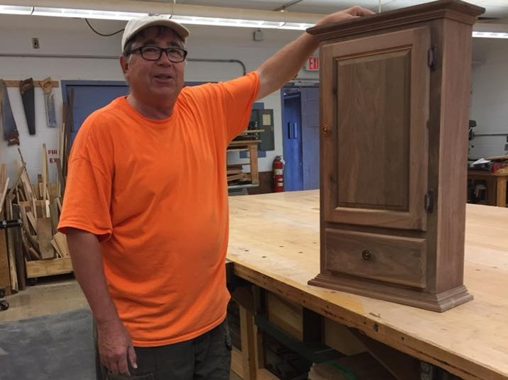 Cabinet with drawer from class