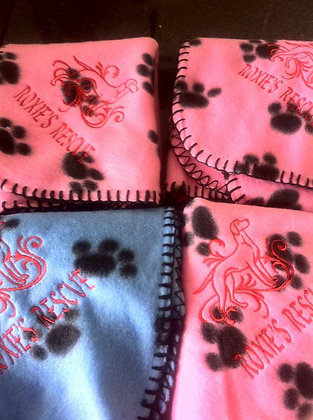 Roxies rescue blankets (pink or blue)
