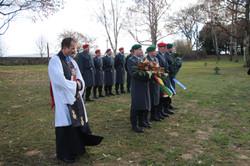 Reverend Downes als Teilnehmer auf dem Russischen Friedhof