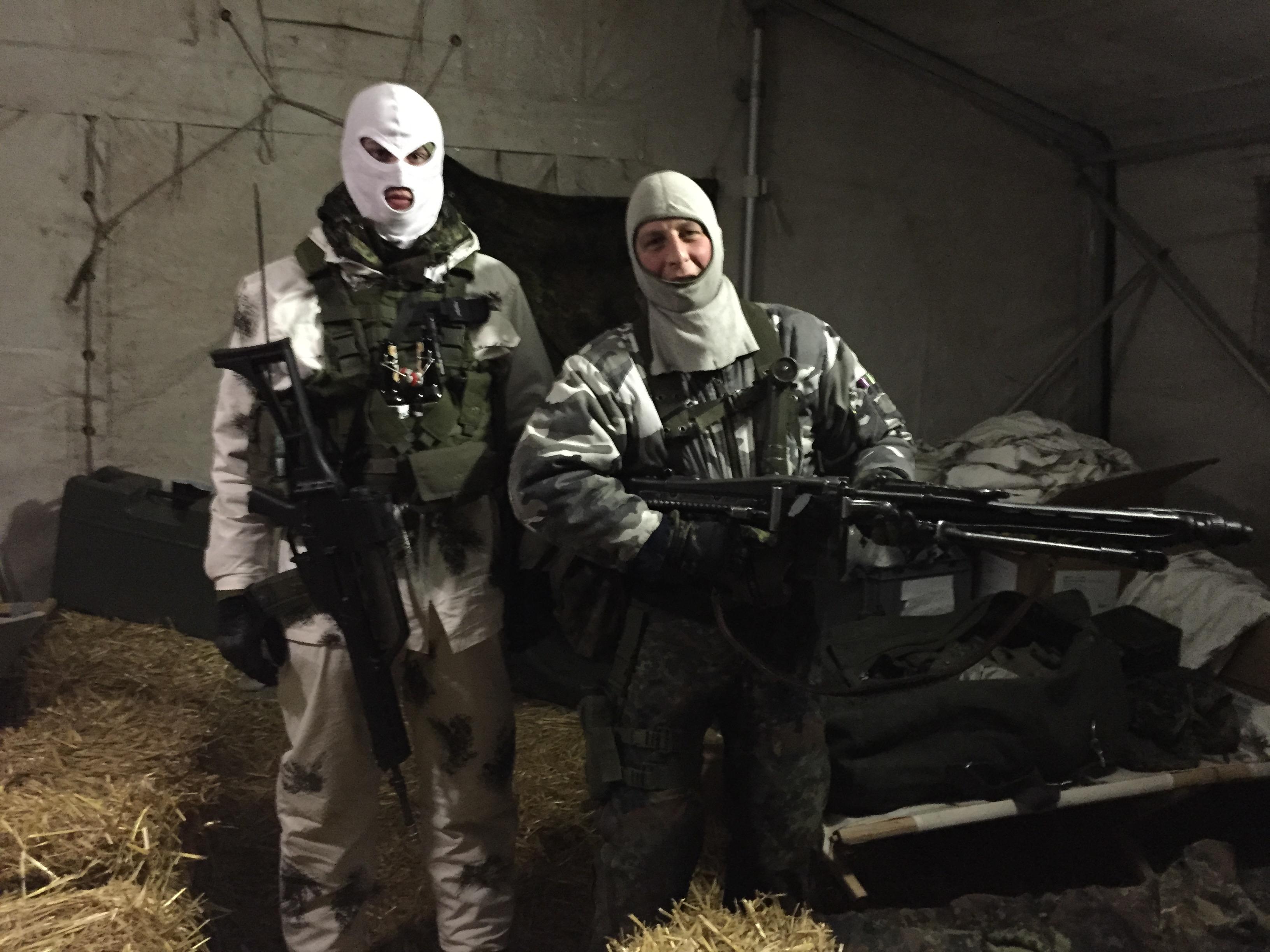 Feindkommando vorm Einsatz
