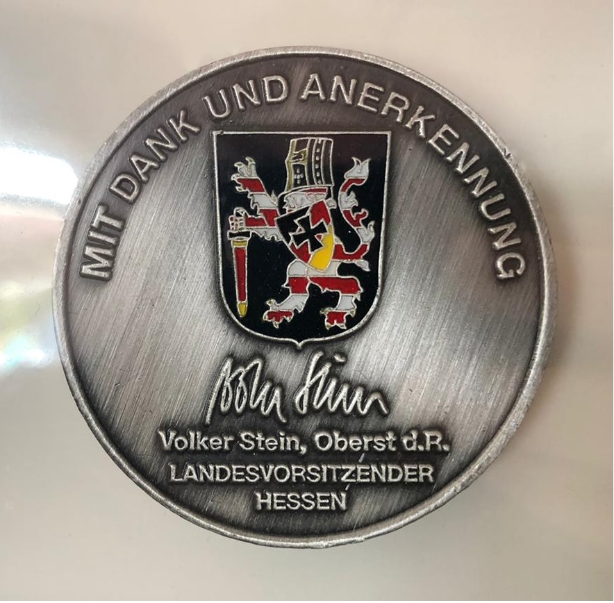 Persönlicher Coin des Landesvorsitzenden Hessen