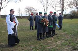 Ehrenposten auf dem Russischen Friedhof